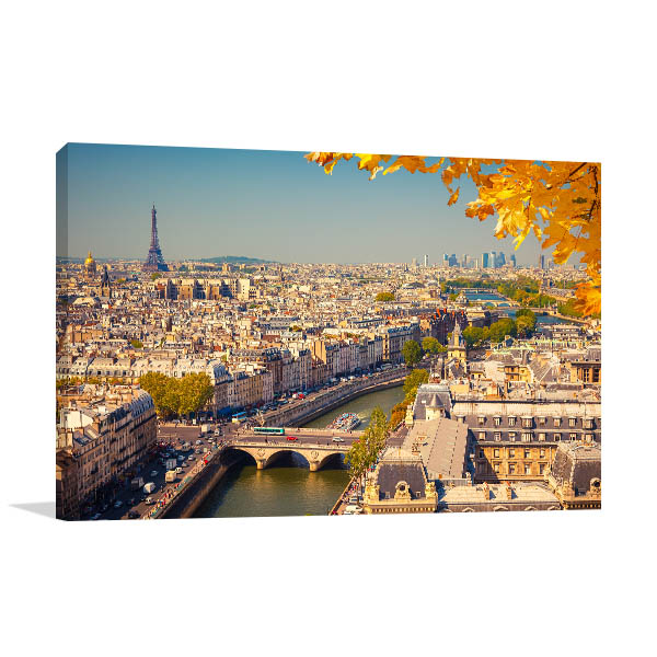 Beauty of the City of Love Canvas Art Prints