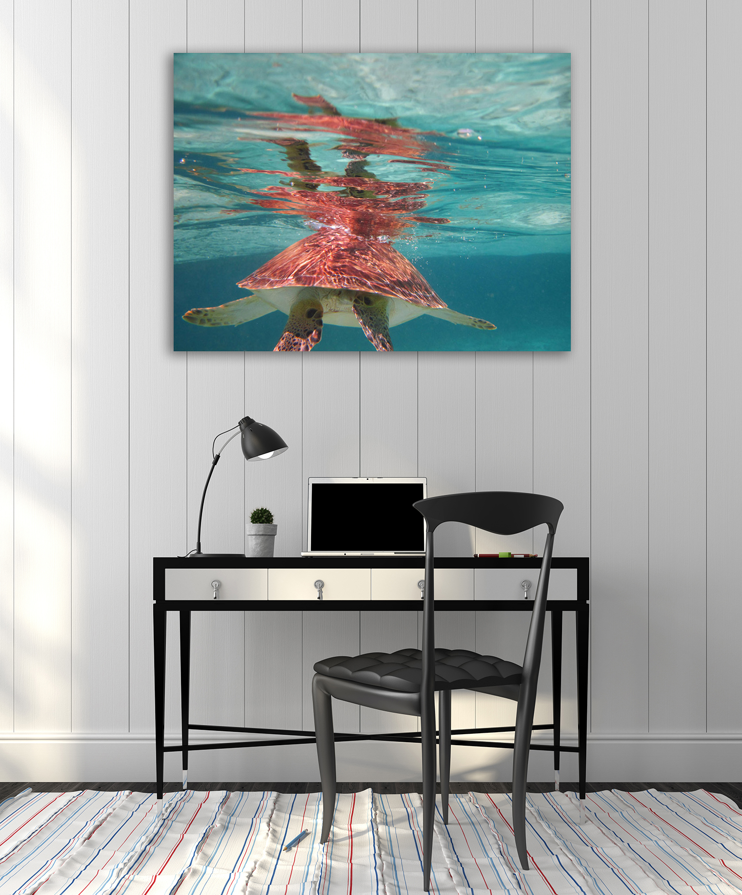 Blue Animal Wall Print Canvas