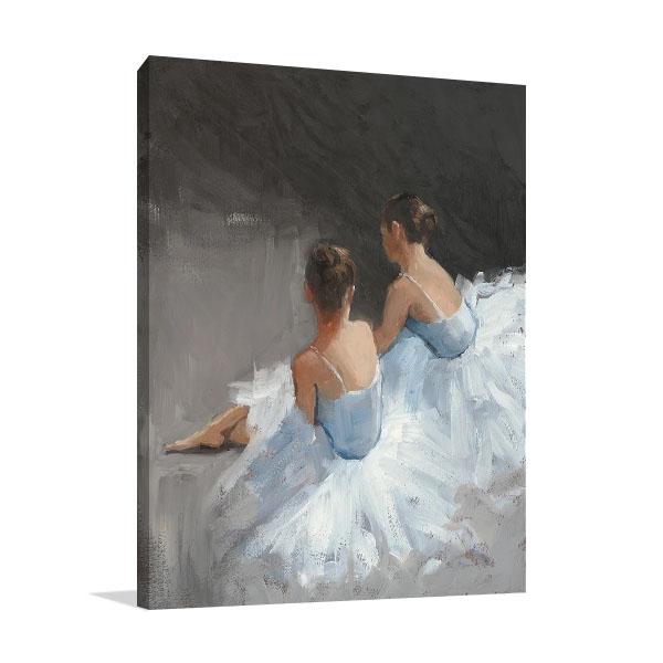 Ballerina Dancers I Canvas Print