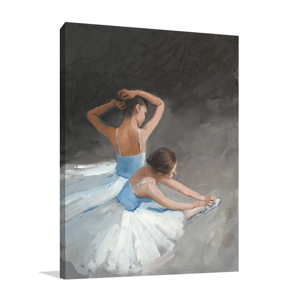 Ballerina Dancers II Wall Print on Canvas