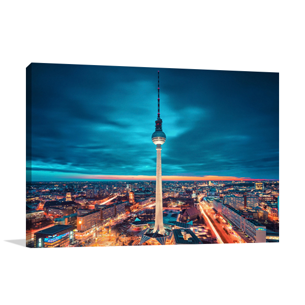 Berlin City Nights Wall Art Print