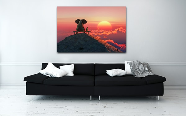 Best Friends Sunset Print Artwork