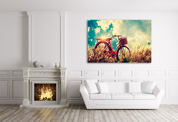 Bicycle in Summer Art Print on the wall