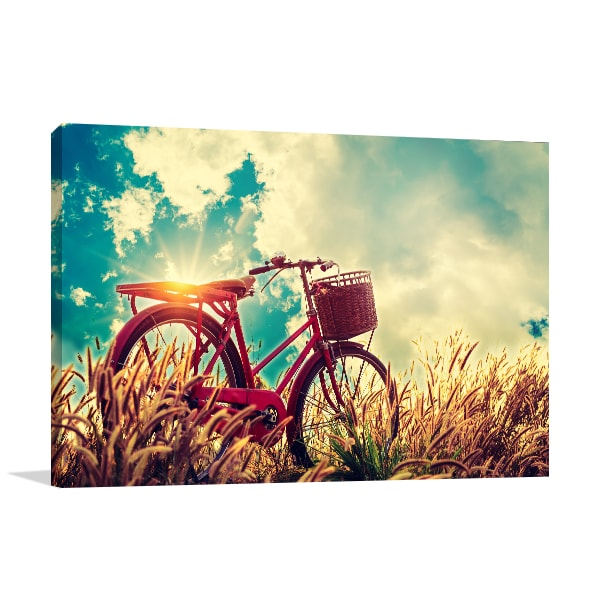 Bicycle in Summer Canvas Art Print