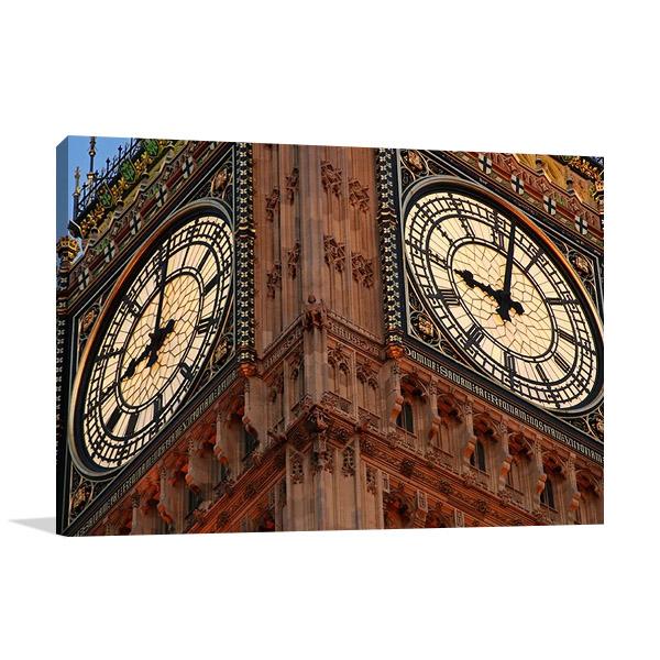 Big Ben Clockface Wall Art Print