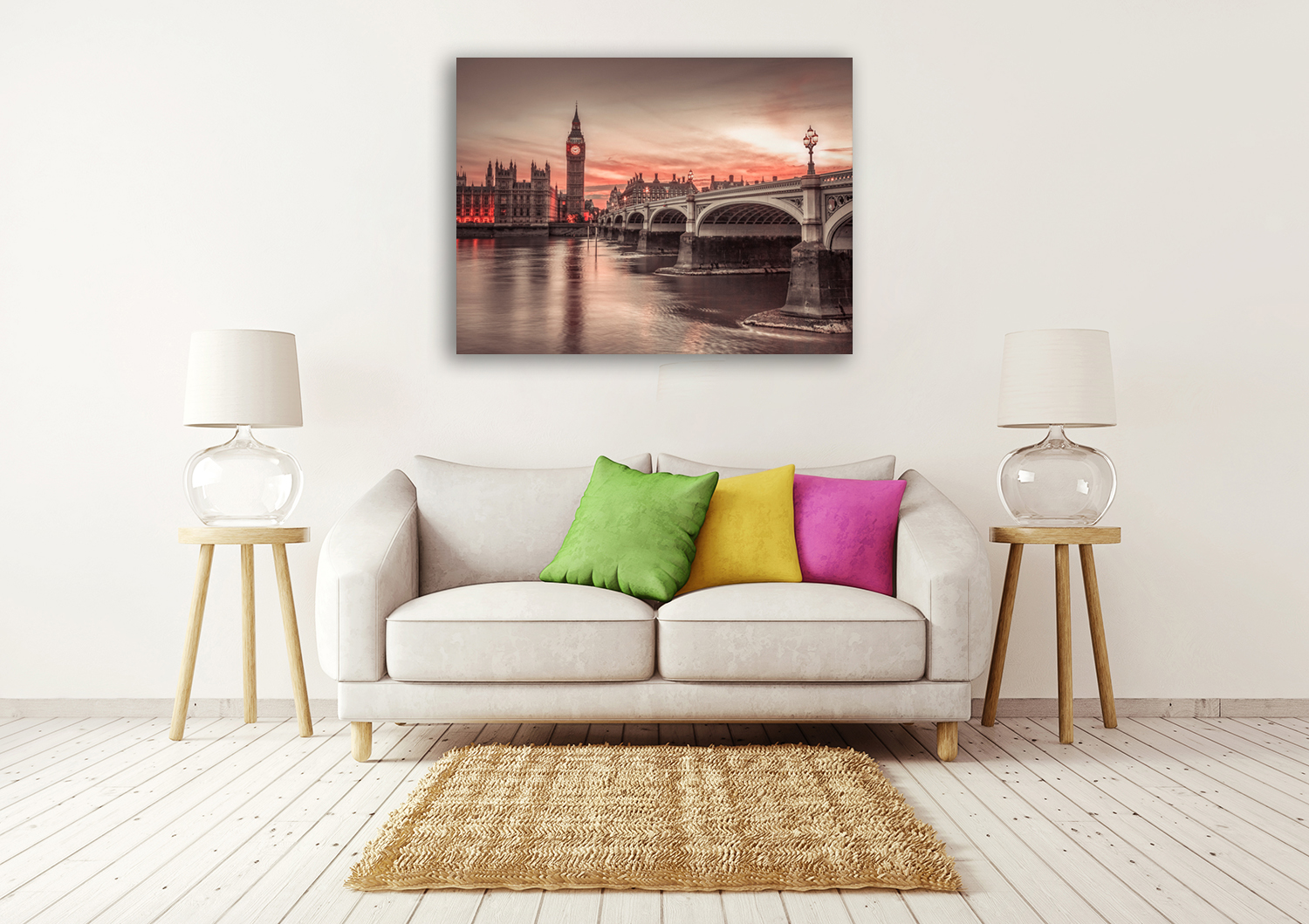 Top Fifty Word Cities Wall Art Print