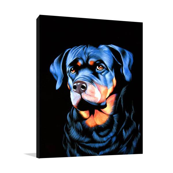 Big Dog Portrait Art Print Canvas Art Prints