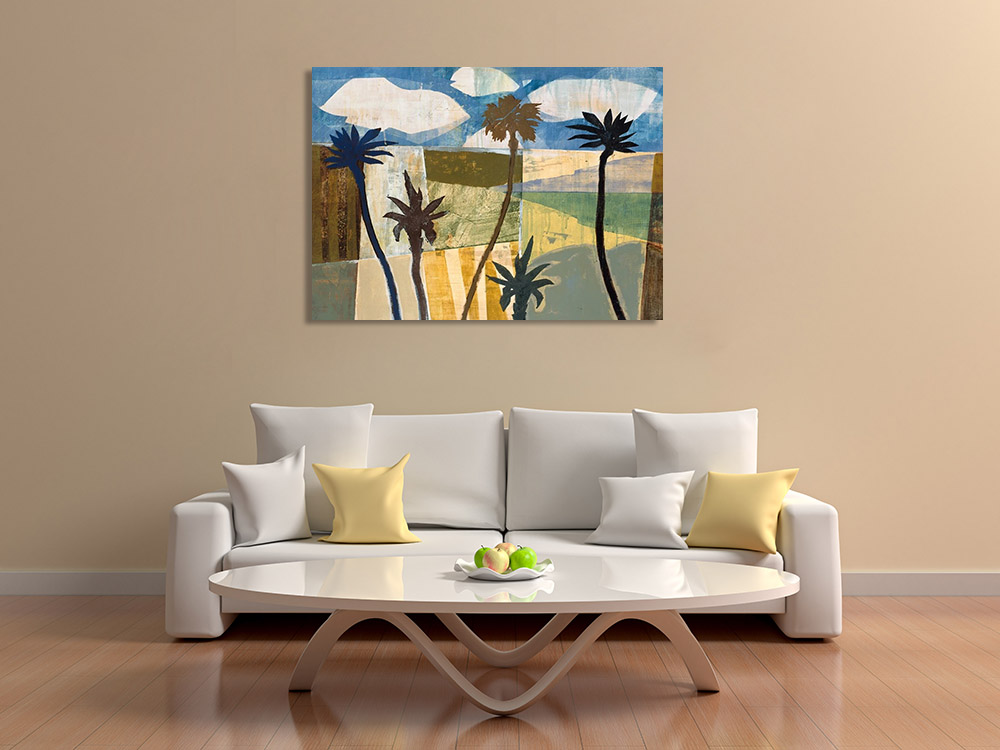 Canvas Print Abstract Palm Trees