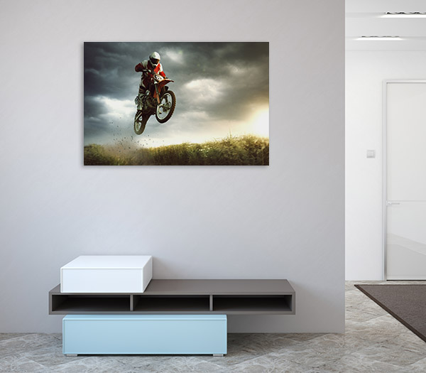 Biker Stunt Canvas Prints