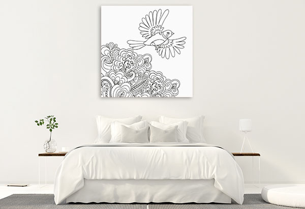 Bird Flown Canvas Prints