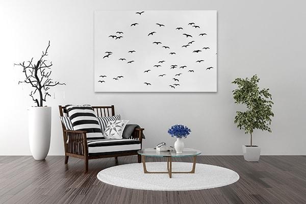 Birds in Sky Wall Art Print Wall Art