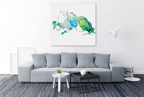 Birds In Watercolour Canvas Art Prints