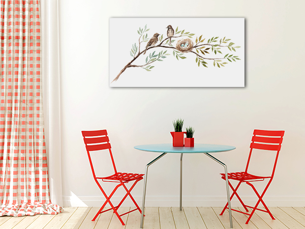 Birds With A Nest Canvas Prints