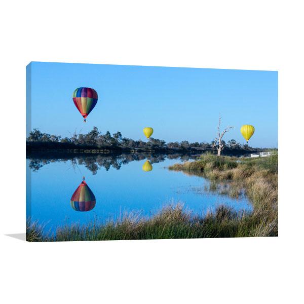 Birdsville Hot Air Balloons Print Photo Art