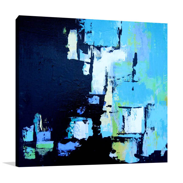 Brooke Howie | Black and Aqua Abstract Print Wall Art