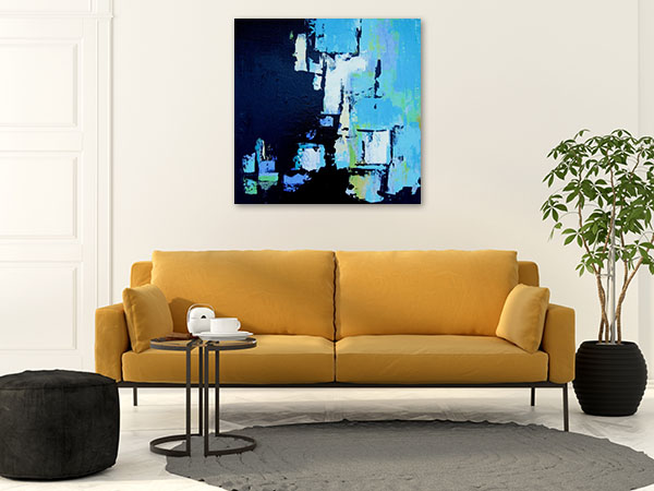 Brooke Howie | Black and Aqua Abstract Print Art Canvas