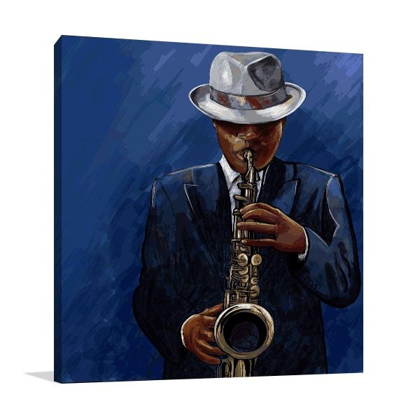 Black and Blues Print Artwork