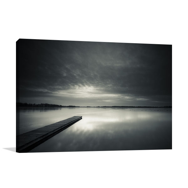 Black and White Sunset Canvas Art