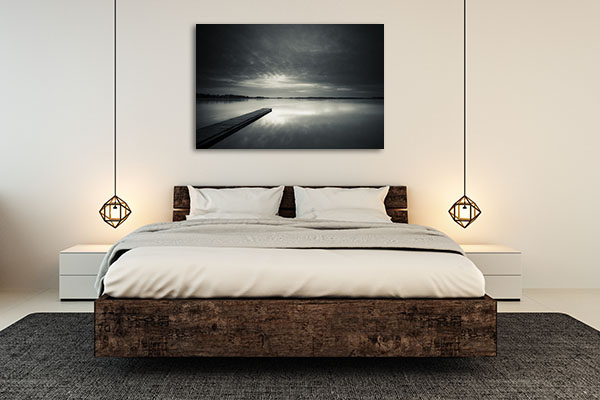 Black and White Sunset Canvas Prints