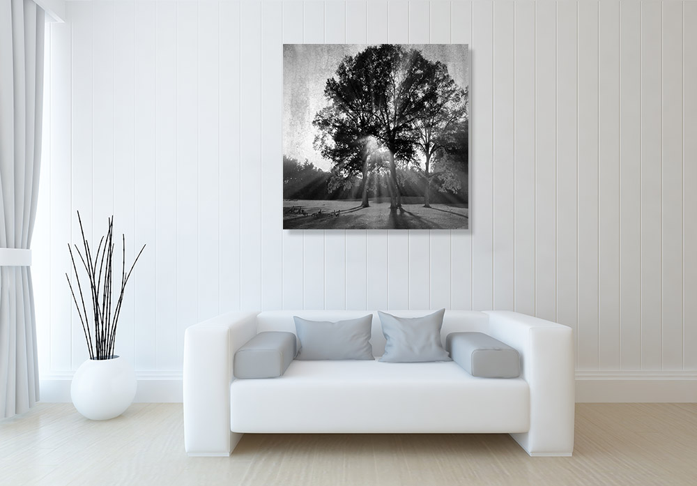 Square Black and White Print