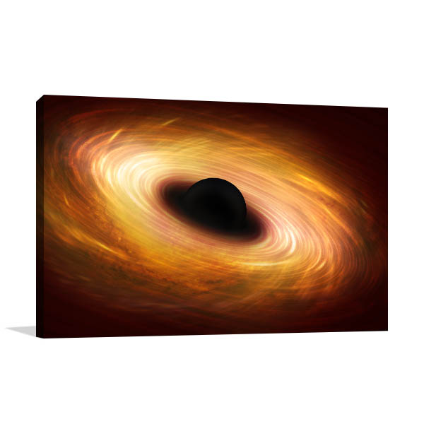 Black Hole Prints Canvas