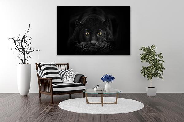 Black Leopard Art Print on the wall