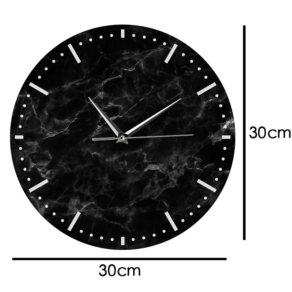 Black Marble Minimalist Wall Clock Melbourne