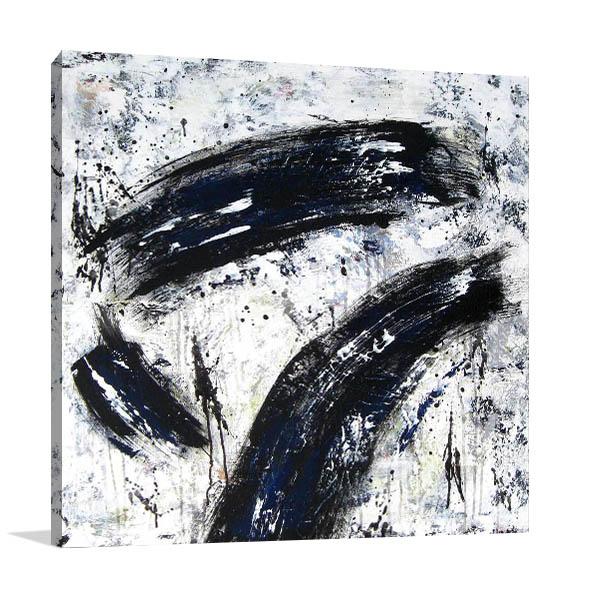 Brooke Howie | Black Strokes Prints Canvas
