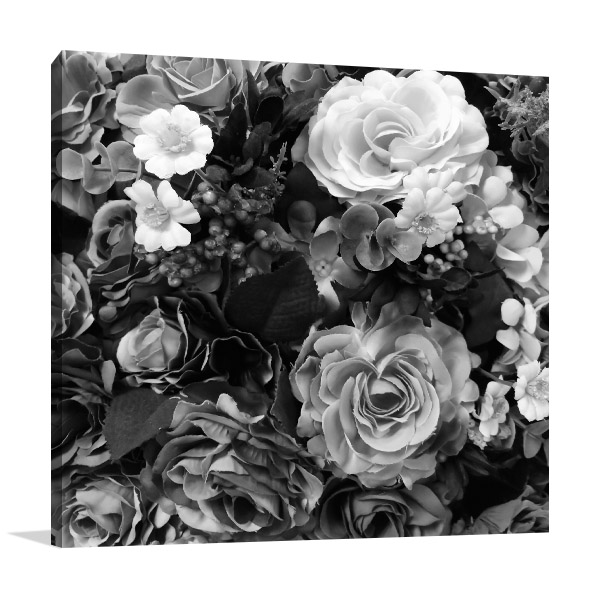Black & White Bouquet Canvas Prints