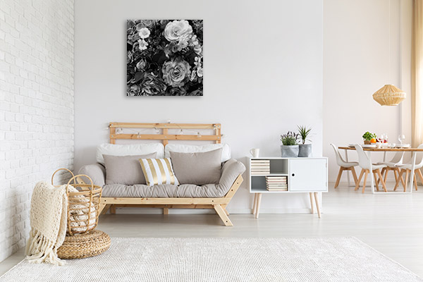 Black & White Bouquet Wall Art