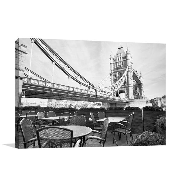 Black & White Cafe Prints Canvas