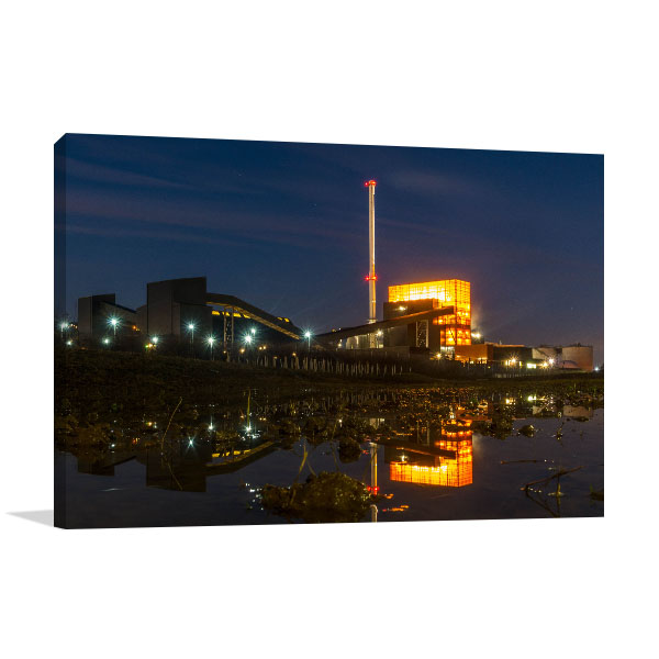 Blackburn Meadows Art Print Biomass Power Station