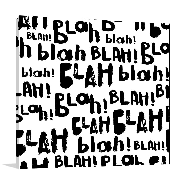 Blah Blah Canvas Art Prints