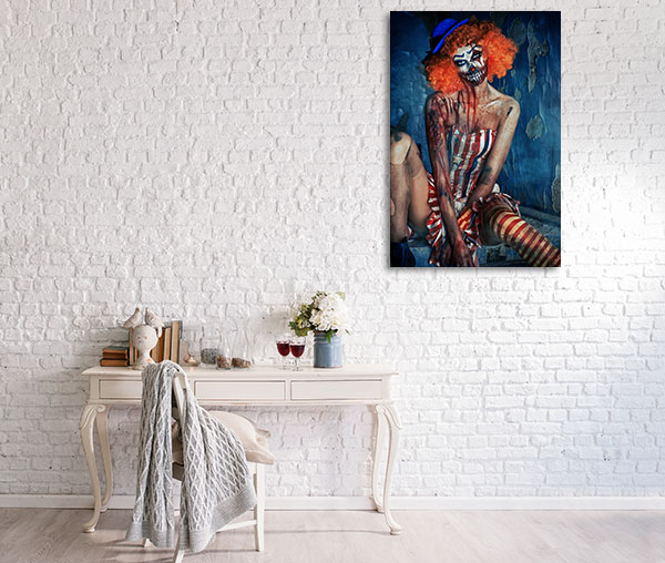 Bloody Scary Clown Canvas Prints
