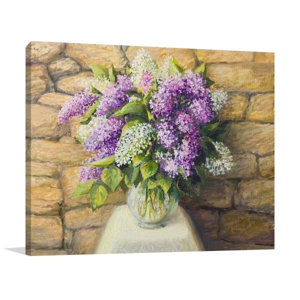 Bloom Lilacs Print Art Canvas