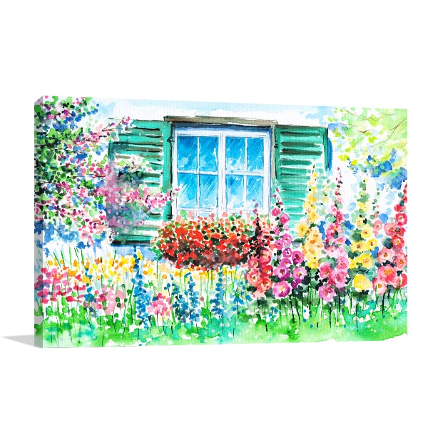 Bloomed Garden Wall Canvas