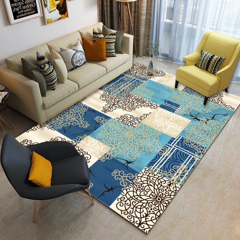Blue Beige Abstract Nordic Modern Rugs Carpet Sydney Perth