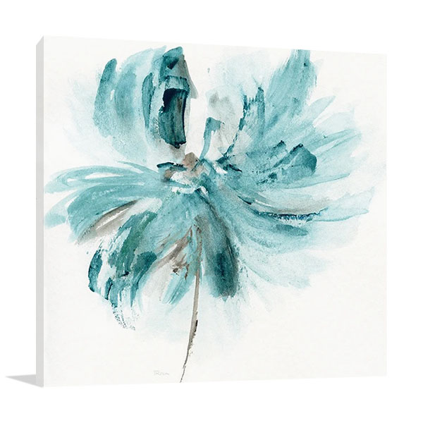 Blue Dance I Print Canvas | Katrina Craven