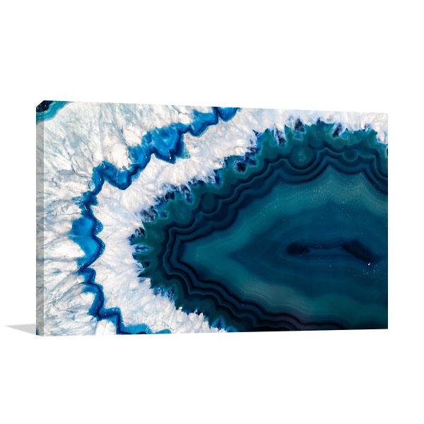 Blue Geode Canvas Art Prints