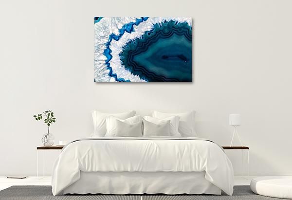 Blue Geode Prints Canvas