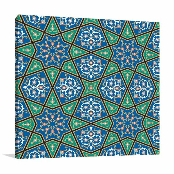 Blue Green Mosaic Artwork