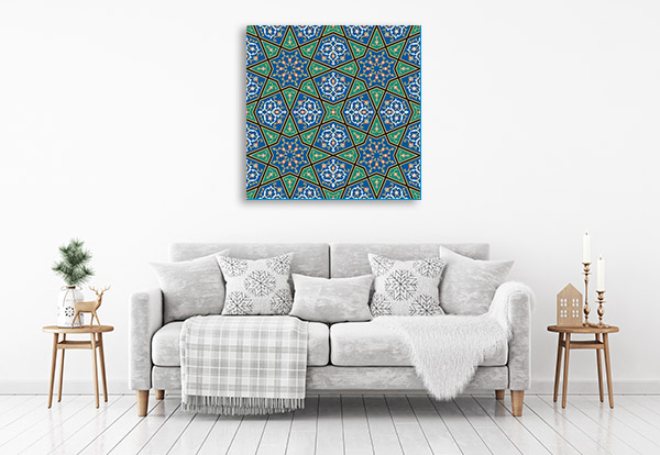 Blue Green Mosaic Art Prints