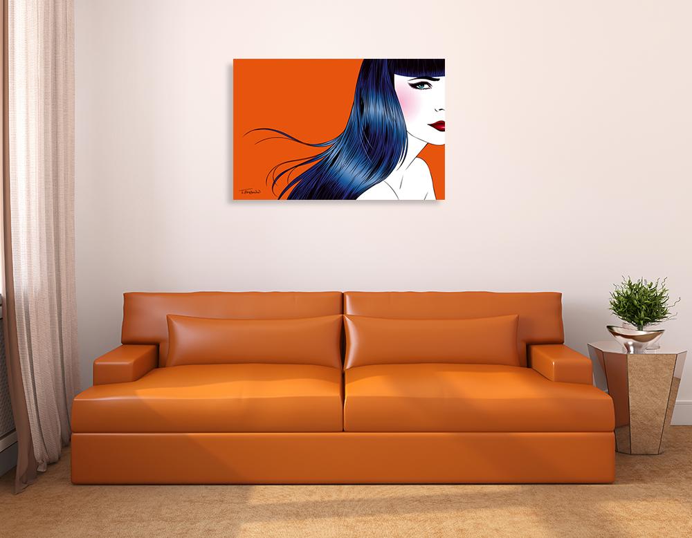 Orange Landscape Print Canvas