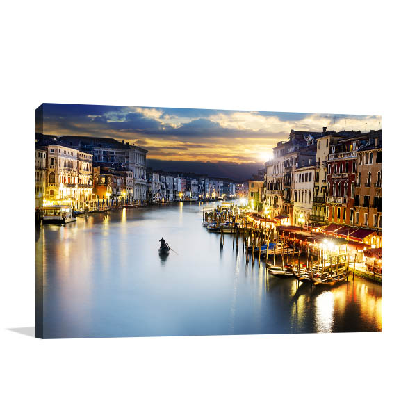 Blue Hour Venice Canvas Art Prints