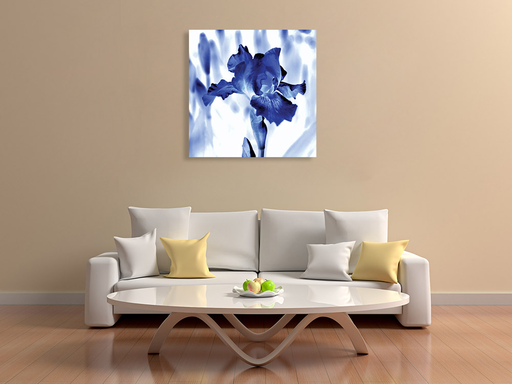 Blue Square Print on Canvas