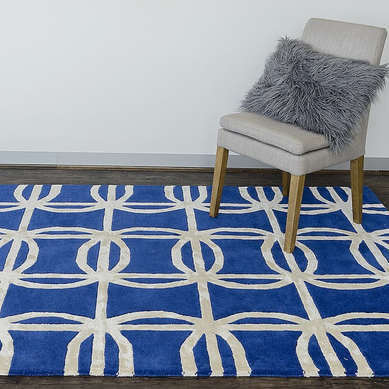 Hand Tufted Wool Blue Rugs Online