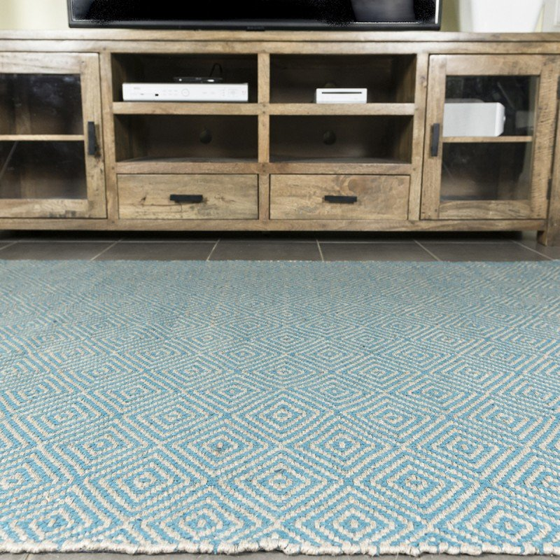 Perth Online Blue Rugs Diamond