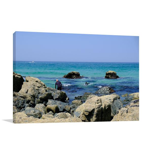 Blue Ocean Wall Art Print Coast