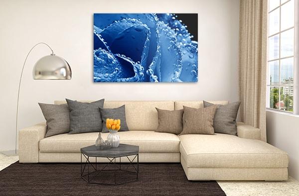 Blue Rose Art Print Prints Canvas