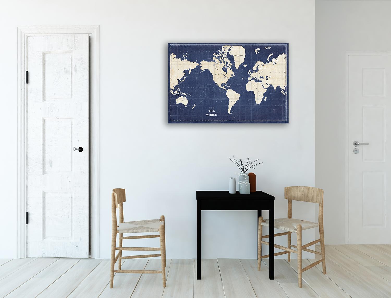 Online Blue Canvas Print